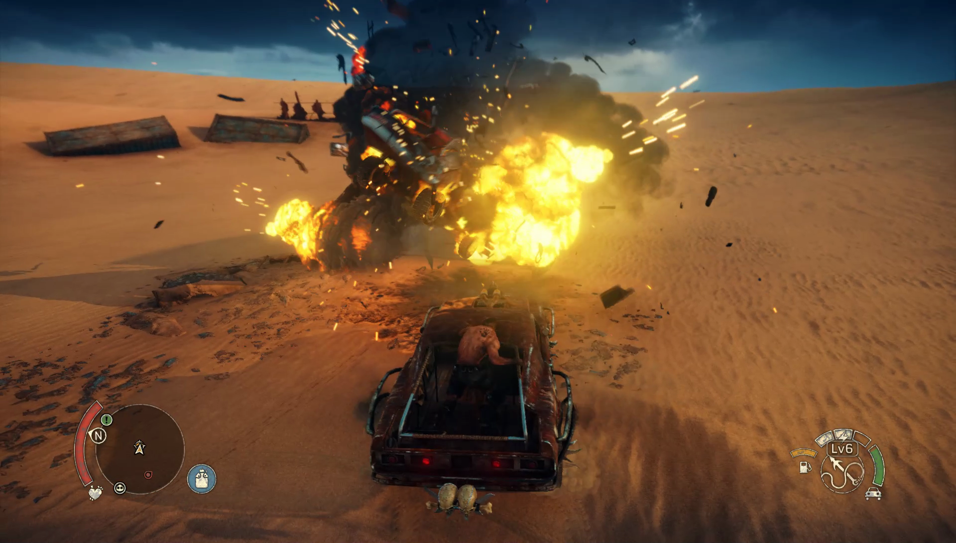Mad Max Car Exploding