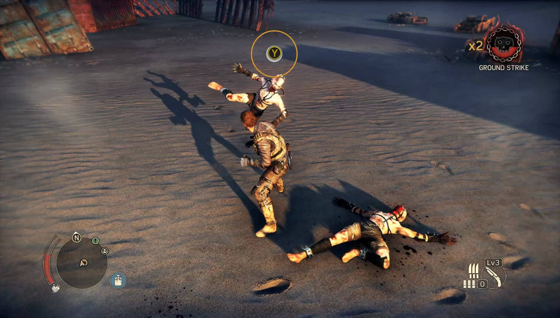 Melee combat is all about timing counter attacks.