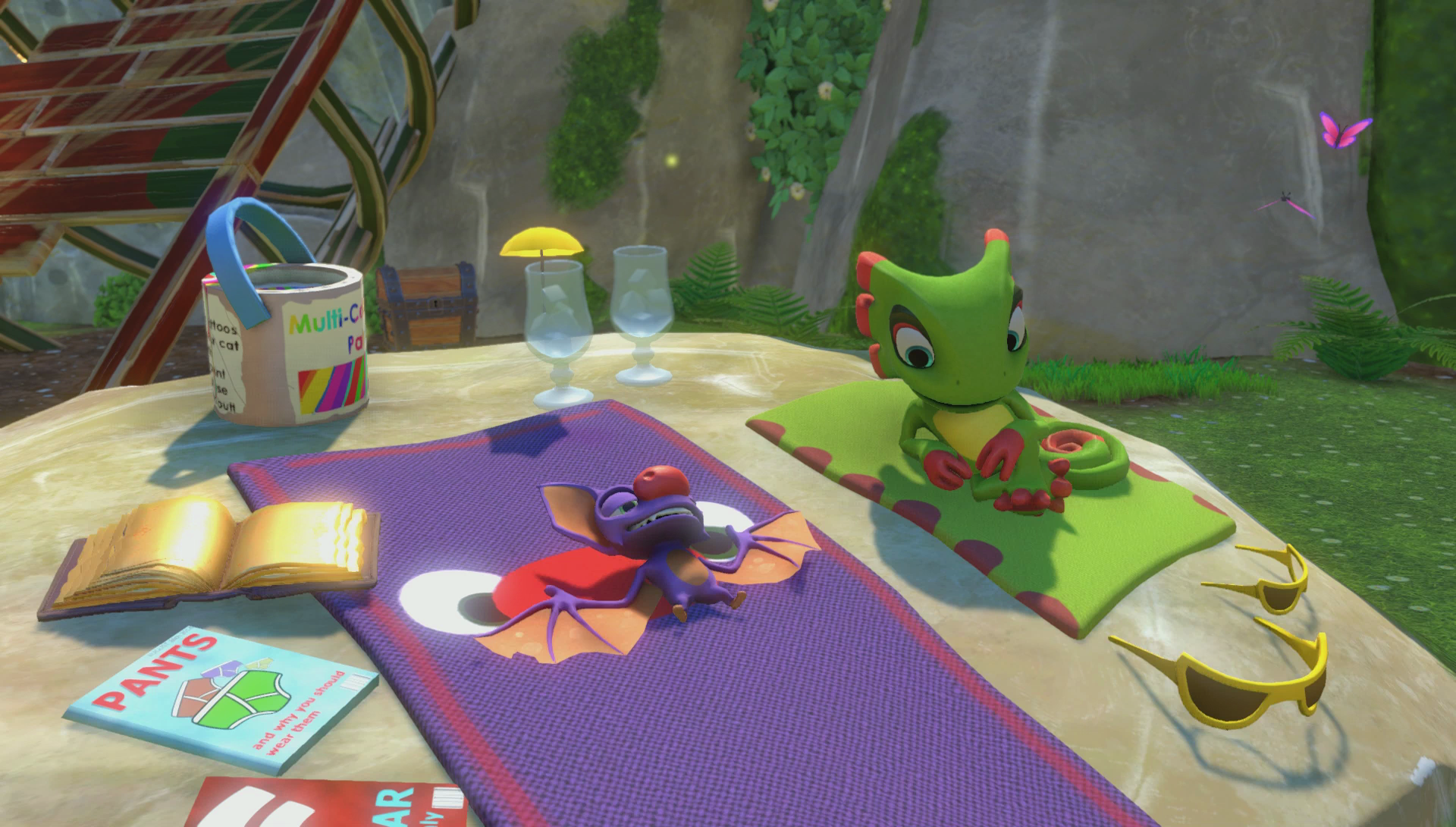 Yooka and Laylee, just chillin'.